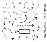 set of hand drawn vector arrows | Shutterstock .eps vector #297428513