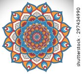 mandala. vintage decorative... | Shutterstock .eps vector #297434990