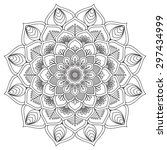 mandala. vintage decorative... | Shutterstock .eps vector #297434999
