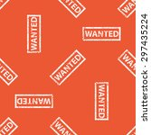 image of stamp with word wanted ... | Shutterstock .eps vector #297435224