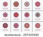mandala. vintage decorative... | Shutterstock .eps vector #297435350