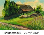 Summer Landscape With Farm...