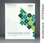 vector layout  brochure  flyer... | Shutterstock .eps vector #297445664