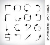 thin line vector arrows | Shutterstock .eps vector #297448826