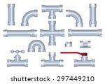 vector pvc pipeline... | Shutterstock .eps vector #297449210