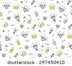 vector pattern with elements of ... | Shutterstock .eps vector #297450410