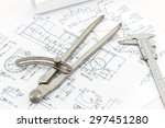 engineering dividers tools and... | Shutterstock . vector #297451280