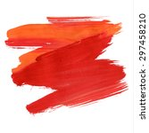 brush stroke. acrylic paint... | Shutterstock .eps vector #297458210
