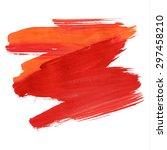 brush stroke. acrylic paint... | Shutterstock .eps vector #297458210