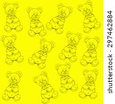 pattern with plush bears | Shutterstock .eps vector #297462884
