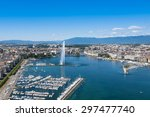 aerial view of leman lake   ... | Shutterstock . vector #297477740