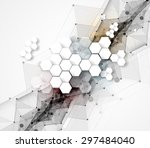 colorful abstract geometric... | Shutterstock .eps vector #297484040