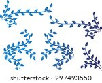 calligraphic decorative element ...   Shutterstock .eps vector #297493550