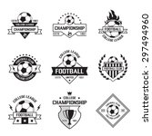 set of soccer football crests... | Shutterstock .eps vector #297494960