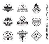 set of soccer football crests... | Shutterstock .eps vector #297494960