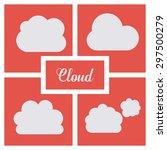 cloud computing digital design  ... | Shutterstock .eps vector #297500279