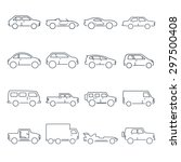outline car collection icon | Shutterstock .eps vector #297500408