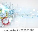 abstract tech background.... | Shutterstock .eps vector #297501500
