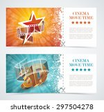 realistic cinema movie poster ... | Shutterstock .eps vector #297504278