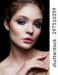 close up portrait of beautiful... | Shutterstock . vector #297510359