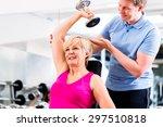 Senior Woman At Sport Exercise...