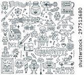 creativity activities funny... | Shutterstock .eps vector #297513680
