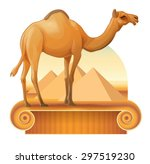 Vector Image Of A Camel On A...