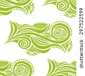 floral nature pattern seamless... | Shutterstock .eps vector #297522599