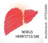 vector illustration of a liver...   Shutterstock .eps vector #297522683