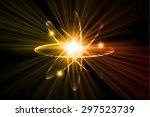 dark orange yellow color light...   Shutterstock .eps vector #297523739