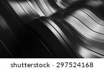 3d rendered waving shape... | Shutterstock . vector #297524168