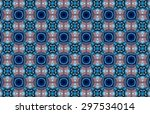 blue ethnic pattern. abstract... | Shutterstock . vector #297534014