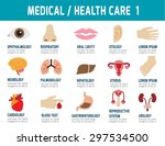 medical   health care. flat... | Shutterstock .eps vector #297534500
