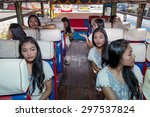many identical passenger clones ... | Shutterstock . vector #297537824