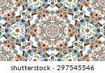 kaleidoscope vector seamless...   Shutterstock .eps vector #297545546