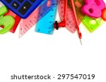 border of colorful school... | Shutterstock . vector #297547019