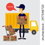 delivery concept  vector... | Shutterstock .eps vector #297548720