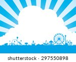 vector of amusement park... | Shutterstock .eps vector #297550898