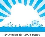 Vector of amusement park background | Shutterstock vector #297550898