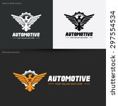 automotive wing eagle logo... | Shutterstock .eps vector #297554534