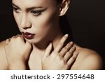 close up beauty fashion... | Shutterstock . vector #297554648