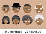 family cartoon vector... | Shutterstock .eps vector #297564608