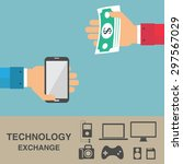 exchange technology and money ... | Shutterstock .eps vector #297567029