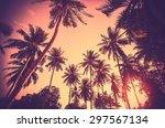 vintage toned holiday... | Shutterstock . vector #297567134