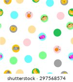 for baby cloth motif  cute baby ... | Shutterstock .eps vector #297568574