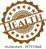 health rubber seal | Shutterstock .eps vector #297571868