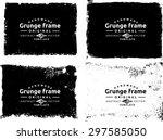 grunge frame texture set  ... | Shutterstock .eps vector #297585050