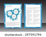 abstract brochure design.flyer... | Shutterstock .eps vector #297591794