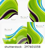 abstract realistic solid wave... | Shutterstock .eps vector #297601058