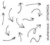 hand drawn creative arrows. ink ...   Shutterstock .eps vector #297609026